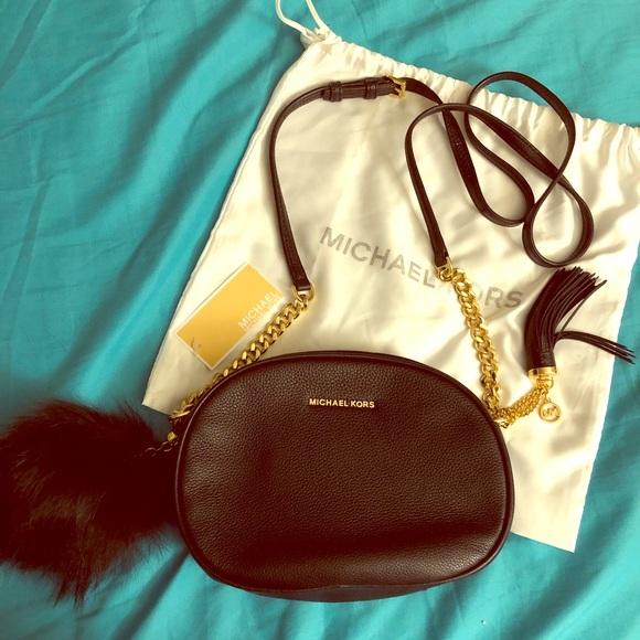 6d6632f973d6 Michael Kors Bags   Ginny Medium Leather Crossbody Bag   Poshmark